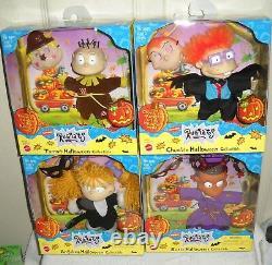 #10173 RARE NRFB Vintage Mattel Nickelodeon Set of 4 Rugrats Halloween Dolls