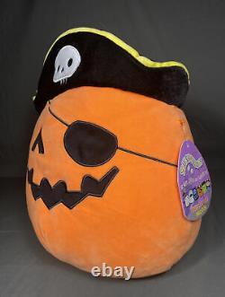 12 inch Squishmallow Kellytoy Paxton the Pirate Pumpkin Halloween 2020 NWT RARE