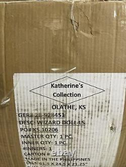 60 Katherine's Collection Wizard Sorcerer Doll LIFE SIZE Staff Book RARE NEW