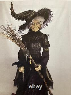 66 Katherine's Collection Midnight Witch Doll LIFE SIZE Broom Halloween RARE