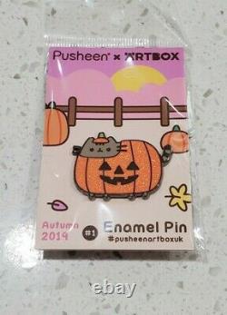 ARTBOX EXCLUSIVE X PUSHEEN Autumn 2019 Enamel Pin Set Halloween RARE SOLD OUT