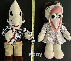 BEETLEJUICE Barbara & Adam Set 19-20 Plush Dolls NWT Spirit Halloween Rare