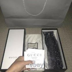 BNIB Rare Gucci Runway 2018 Crystal Knit Gloves