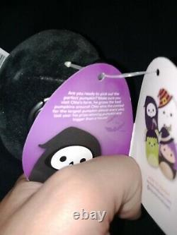 BNWT Otto the 3.5 Inch Grim Reaper Squishmallow Halloween 2021 Clip! RARE