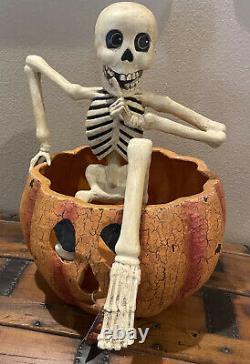 Bethany Lowe Halloween Creeping Skeleton WithLightRare Resin VersionRetired