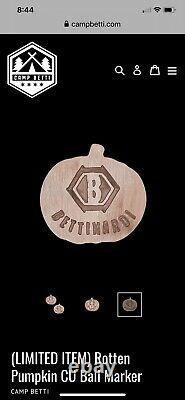 Bettinardi Frankencat Halloween Headcover With Rotten Pumpkin Marker Very Rare
