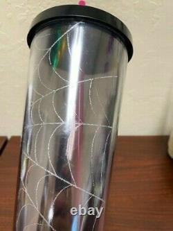 Brand New Starbucks 2019 Rare Halloween Glitter Spiderweb Tumbler Venti 24oz