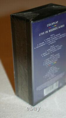 COLDPLAY LIVE IN BUENOS AIRES CASSETTE 2 X RARE ORIGINAL Warner Music LIMITED