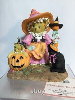 Cherished Teddies Halloween CHARICE 2014 signed exclusive 695 of 828 very rare