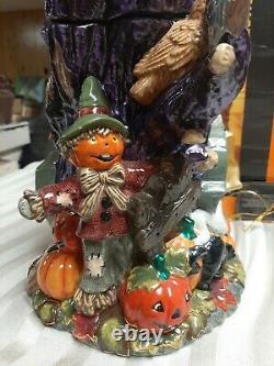 Christopher Radko HOOT N HOWL Cookie Jar (Very Rare) 15 Tall