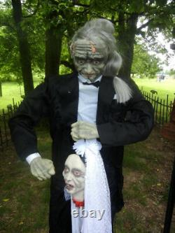 DELUXE ANIMATED 6 FOOT SIR CHARLES an his BRIDE HALLOWEEN DISPLAY PROP RARE