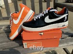 DS 2006 Nike Air Force 1 Premium Halloween Black Orange 10.5 Rare Supreme Dunk