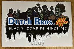 DUTCH Bros BROTHERS Coffee HALLOWEEN Slayin ZOMBIES Rare STICKER HTF DB