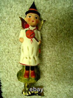 Debbee Thibault's Halloween Clipon Ornament Made In Germany 2007 Nib Rarehtf
