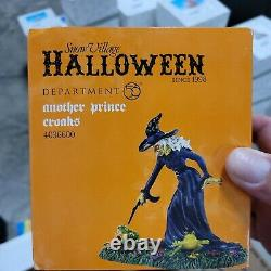Department 56 Snow Village Halloween Another Prince Croaks Witch Frogs RARE