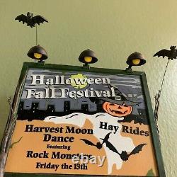 Dept 56 Halloween Festival Billboard 53241 RETIRED Snow Village Accessory RARE