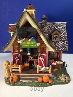Dept 56 Snow Village Halloween Fall SCARECROW HARVEST FESTIVAL 799932 New RARE