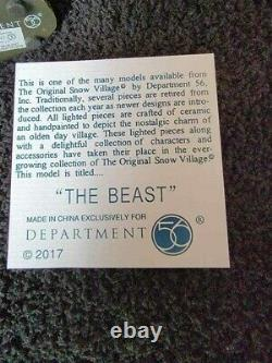 Dept 56 Snow Village Halloween The Beast (rare) and The Beast Master