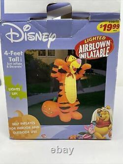 Disney Airblown Inflatable Tigger 4 Ft Halloween Lights Up Gemmy 2004 Rare