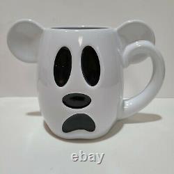 Disney Halloween 2018 Rare Mickey Mouse White Ghost Boo To You Coffee Mug NWOT