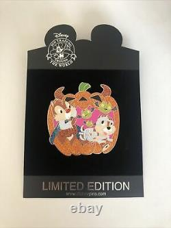 Disney Shopping Chip and Dale Halloween LE 125 Rare HTF Pin