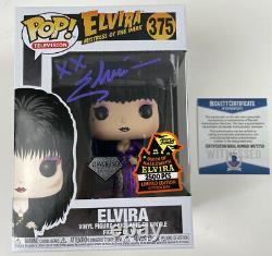 ELVIRA signed Funko POP Purple Dress Spooky Empire 2500 Queen of Halloween RARE