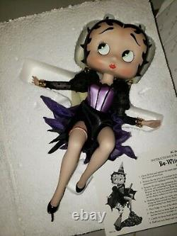 EXTREMELY RARE RETIRED BETTY BOOP HOLIDAY BE WITCHED FIGURINE in box HALLOWEEN