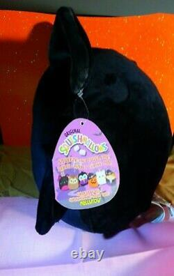 Emily the 8 Black Bat Halloween Squishmallow Stuffed Animal Toy Plush RARE