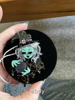 Erstwilder Not So Wicked Witch Brooch Halloween HTF Rare 2017 BNIB Crystal