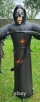Gemmy INFLATABLE HALLOWEEN 6ft Light up Grim Reaper Energy Efficient rare