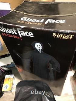 Ghost Face 6ft Lifesize Halloween Prop Spirit Gemmy Bnib Rare Htf