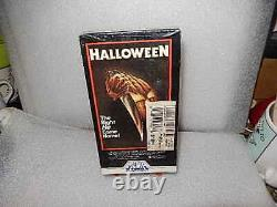 HALLOWEEN VHS VIDEO Horror FACTORY SEALED NEW EXTREMELY RARE HTF / Label Sticker