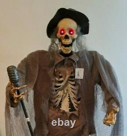 Halloween Animated Life Size Skeleton Prop Rare
