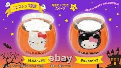 Halloween Pumpkin-shaped Hello Kitty Pottery Cup Kawaii Cute Sanrio L/E Rare Jp