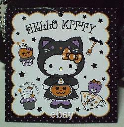 Hello Kitty Halloween Black Cats plush doll Lot of 2 Sanrio 2014 Rare NWT