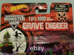 Hot Wheels Monster Jam Grave Digger Halloween Limited Edition 1 of 5000 RARE