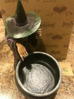 Jim Shore Halloween Witch's Brew Candy Cauldron NRFB Retired 2009 4014443 RARE