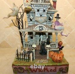 Jim Shore RARE Halloween Haunted House Wicked 4010356 NIB Sound Light-up VIDEO
