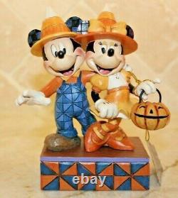 Jim Shore RARE Mickey & Minnie Mouse Halloween Countdown to Candy 4057948 NIB