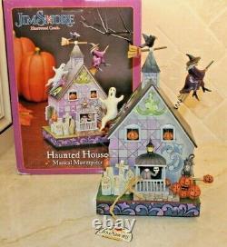 Jim Shore Retired RARE 2010 Halloween Haunted House Fear Take Flight 4020464 NIB