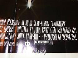 John Carpenter Rare Signed Halloween Original 1978 1-Sheet Horror Movie Poster