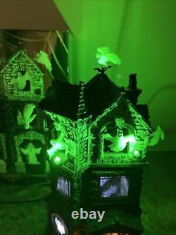 Lemax Signature Spooky Town Ghostly Manor 65112 Animated Halloween Rare Retired
