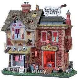Lemax Spooky Town The Butcher Shop #85663 2008 Rare & Retired