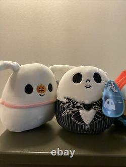 Lot of 5 Nightmare Before Christmas Squishmallows Rare Oogie Jack Sally Zero 5