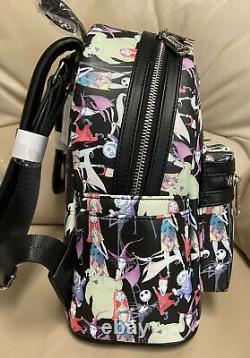 Loungefly Disney Nightmare Before Christmas Aop Mini Backpack-UNIQUE & RARE