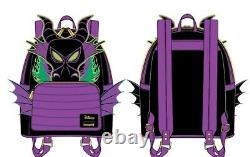 Loungefly maleficent dragon glow in the dark flames mini backpack preorder Rare