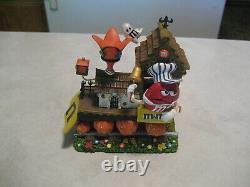 M&m's- Rare M&m Halloween Ceramic Train Set- New In Box- The Danbury Mint
