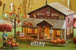NEW RARE Limited Edition Dept 56, Apple Barn Box Set of 4, Halloween Village
