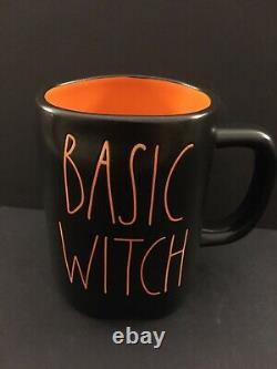 NEW Rae Dunn Black BASIC WITCH Mug With Orange Interior RARE HTF Magenta LL