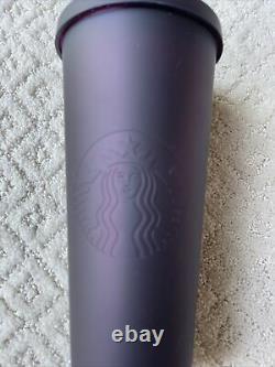 NEW ULTRA RARE HTF Starbucks Tumbler 24oz Halloween 2019 Matte Plum Black Cherry